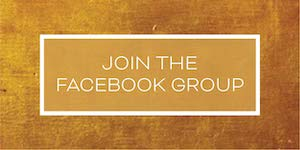 join the facebook group - white lettering on gold
