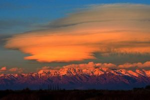 sunset over the sangre de cristo mountains