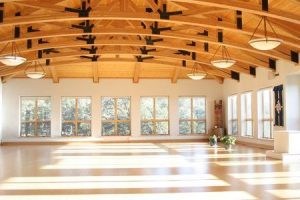 blazing mountain retreat center yoga room
