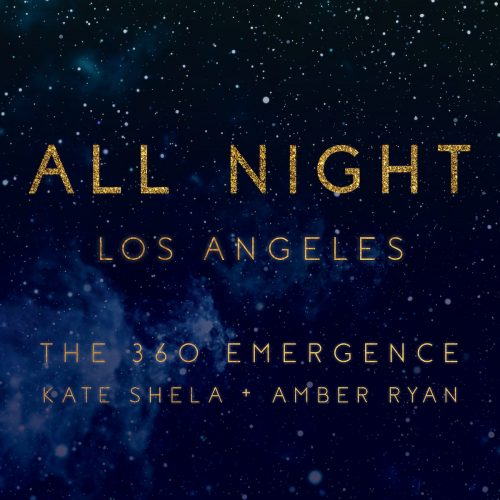 all night los angeles in gold over starry sky